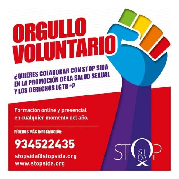 orgullo voluntario LGTB Stop Sida