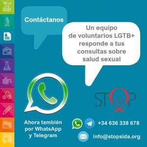 ciber whatsapp consultas vih sida lgtb