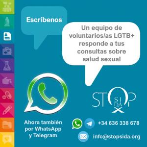 Consultas por whatsapp salud sexual VIH LGTB