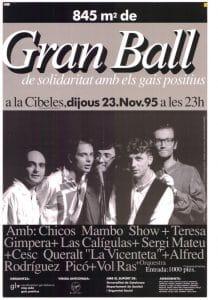 845 m2 de Gran Ball de Solidaritat amb els Gais Positius a la Cibeles